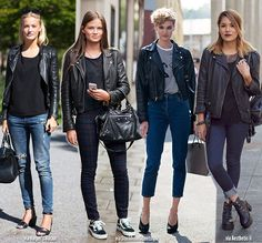 Blue is in Fashion this Year: Transitioning Clothing   The Black Biker Jacket