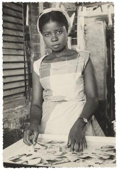 Evelyn Abbey, Ever Young Studio, Accra, c. 1955