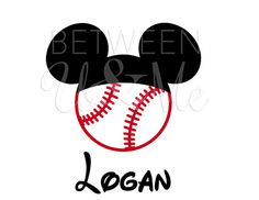 Personalized Baseball Mickey Mouse Iron On Decal Vinyl for Shirt