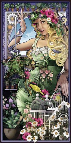Antheia (GREEK) goddess of flowers and flowery wreaths