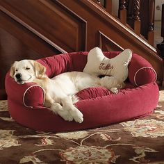 $79.95-$169.95: Comfy Couch Pet Bed- comes with free personalized bone pillow