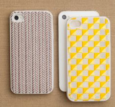 Needlepoint iPhoneCases - the purl bee  They don't make them for the iPhone5 yet, but when they do I think I will be buying one!