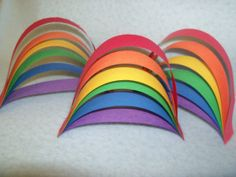 Simple rainbow paper craft. Going to try this with my Rainbow Guides tonight!