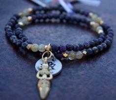 Calm & Joy: Boho Chic Chakras Yoga Healing Jewelry  Pyrite and Citrine by ChakrasYoga on Etsy