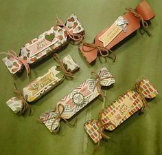 herbstliche Bonbons Farben: Waldmoos, Honiggelb, Terrakotta Stempelset: Perfekte Pärchen, Eine runde Sache, Herbstfarben  Stampin'Up