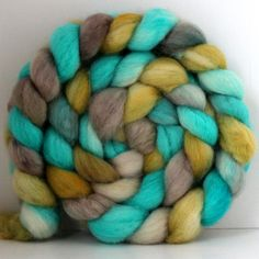 SANDY++BFL+Wool+Handpainted++Hand+Dyed++Roving+4+by+SpunRightRound,+$16.00