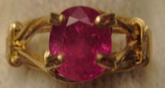 The Color of LOVE Ruby in Gold Ring by SacredCoyoteDesigns on Etsy, $50.00  July Birthstone