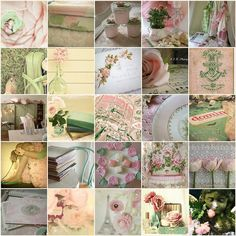 Romantic - pink and green
