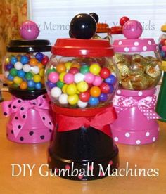 Diy gumball machine candy dishes