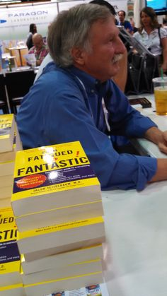 Dr. Jacob Teitelbaum signing From Fatigued to Fantastic at Natural Products Expo 2015