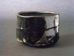Seto Black TeaBowl,  Kato Tokuro 瀬戸黒茶碗 加藤唐九郎