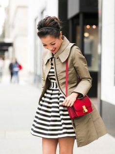 saia rodada curta - usar como vestido (com blusa da mesma cor) e com jaqueta
