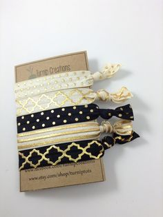 So Trendy, Stylish and Chic! These FOE Hair Ties are perfect hair accessories for pulling back your hair and staying in style at the same time. This 5