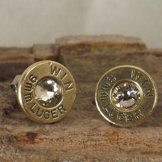 Bullet  Earrings   Stud Earrings  Ultra Thin  9mm by ShellsNStuff, $14.99