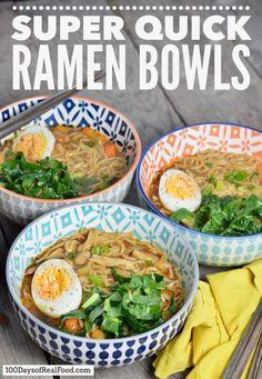 Super Quick Ramen Bowls Ramen Recipes, Asian Recipes, Real Food Recipes, Vegetarian Recipes, Dinner Recipes, Cooking Recipes, Healthy Recipes, Ethnic Recipes, Real Foods