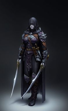 Dark Assassin, Yoon Seseon on ArtStation at https://www.artstation.com/artwork/KERNr