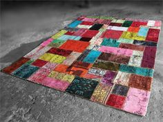 Alfombra hecha a mano patchwork ALL NATIONS Colección Alfombras Vintage by Miinu   diseño miinu® Design Team