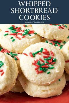 Whipped Shortbread Cookies - A Family Feast® Cookie Do, Cookie Tray, Egg Free Cookies, Whipped Shortbread Cookies, Cooking Cookies, Delicious Cookies, Confectioners Sugar, Cookie Recipes, Food