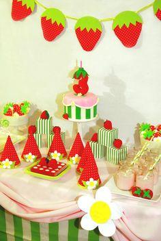 Strawberry Shortcake birthday - that is so stinking cute!
