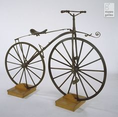 "Michaux-type ""boneshaker"" bicycle (1870-1875) at the Museo Galileo - Institute and Museum of the History of Science, Florence, Italy"