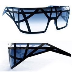 Structure eyewear, aggressive and futuristic design. Sunglasses concept for LV, inspired by technical constructions and architecture.