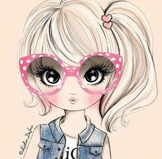 Cute Images, Cute Pictures, Cute Cartoon Girl, Illustration Girl, Fashion Illustrations, Cute Wallpapers, Cute Drawings, Cute Art, Art Girl