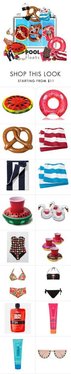 """Pool Floats"" by s-p-j ❤ liked on Polyvore featuring interior, interiors, interior design, home, home decor, interior decorating, Ankit, Serena & Lily, High Dive by ModCloth and Boohoo"