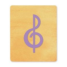 Music note- treble clef; IMC Die Cut in Carousel