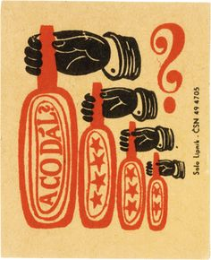 czech matchbox label from 1968