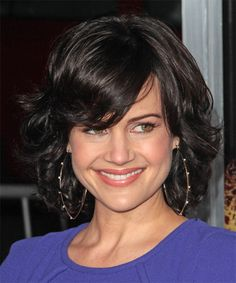 Carla Gugino Hairstyle - Medium Wavy Formal - Black