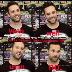 His eyeliner is always on point<<ikr Funny Things, Funny Stuff, Skillet Band, Jen Ledger, Christian Rock Bands, John Cooper, Music Theater, Cool Bands, Music Artists