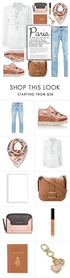 """Paris Travel Outfit"" by glamorous09 ❤ liked on Polyvore featuring AMIRI, STELLA McCARTNEY, Longchamp, Equipment, Bomedo, MICHAEL Michael Kors, Marni, Bobbi Brown Cosmetics, Mark Cross and Tory Burch"