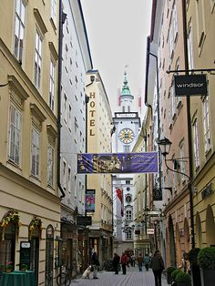 Salzburg, Austria...I walked down this street in November of 1995. I love how things haven't changed!