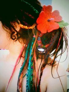 colourful dreads
