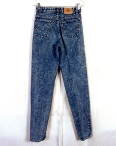 988f330d vtg 80s Levis Rare Silver Medal PLEATED Acid Wash Denim Jeans Men's 28 X 34  Denim