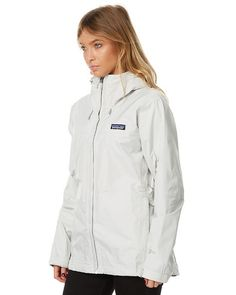 Patagonia Rain Jacket, White Windbreaker, Patagonia Outdoor, Surf Outfit, Jackets For Women, Clothes For Women, Rain Wear, Shop Now, Women Wear
