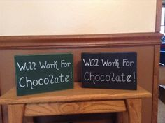 We all know someone who loves chocolate this much. :)  Will Work For Chocolate Funny Rustic Wooden Block Art Home Or Office Decor http://etsy.me/2i0nBUm #homedecor #woodblockart #woodblockdecor #funnysaying #chocolate #chocolatelovers