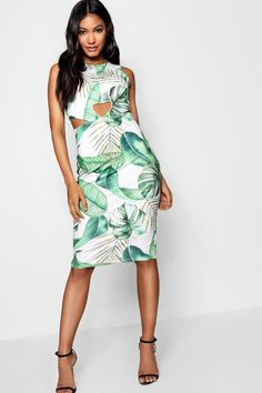 Click here to find out about the Sarah Tropical Print Cut Out Front Midi  Dress from 34acd31e5b9c