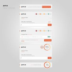 Put.io White Concept | #design #mobile #ui #ux