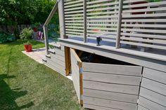 Mobile Home Porch, Mobile Home Exteriors, Porch Underpinning, Under Deck Storage, Deck Skirting, Patio Plans, Cottage Porch, Deck Railings, Fire Pit Backyard