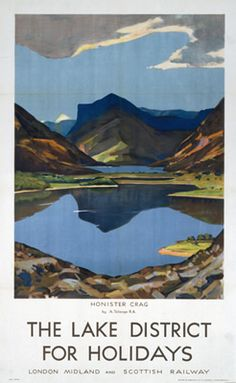 The Lake District Honister Crag LMS on VintageRailPosters.co.uk Prints