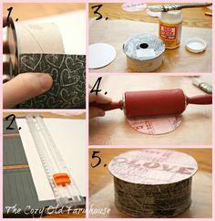 Repurposed Ribbon Spool