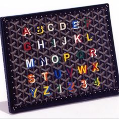 this is how my kids will learn the alphabet. #Goyard