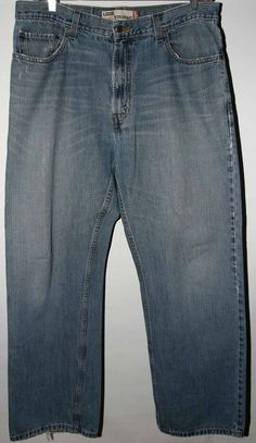 Levi's 569 Loose Straight Jeans Men's 36x34 Zipper-Fly Blue #Levis #569LooseStraight