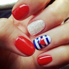 Nautical #Heart #Nails