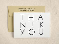 Thank You Card Set #typography