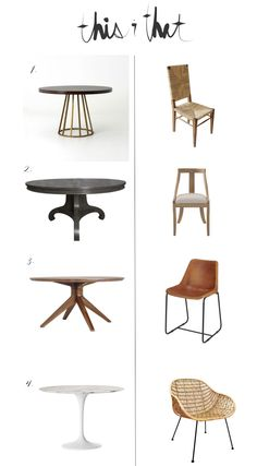 greige design blog: This and that... round dining tables and chairs