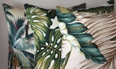 palm tree lumbar cushions