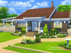 Rose Hill Court is a home built on a 40 x 30 lot in Newcrest on the Avarice Acres Lot.  Found in TSR Category 'Sims 4 Residential Lots'