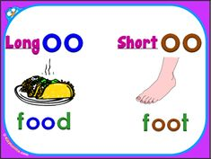 long vs. short 'oo' vowel digraphs, video tutorial « KizPhonics with sounds